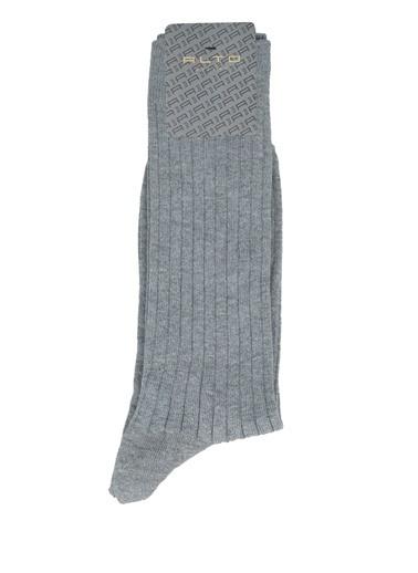 Alto Socks Alto Socks  Çizgi Dokulu Erkek Çorap 101643912 Gri
